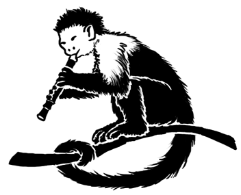 Capuchin plays the recorder