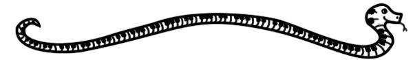 Snake keyboard divider