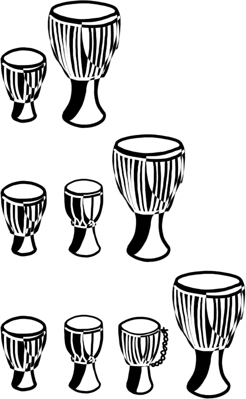 multiple djembes