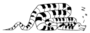 very tired snake