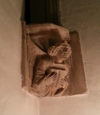 Angel from Abbey gatehouse, Tewkesbury