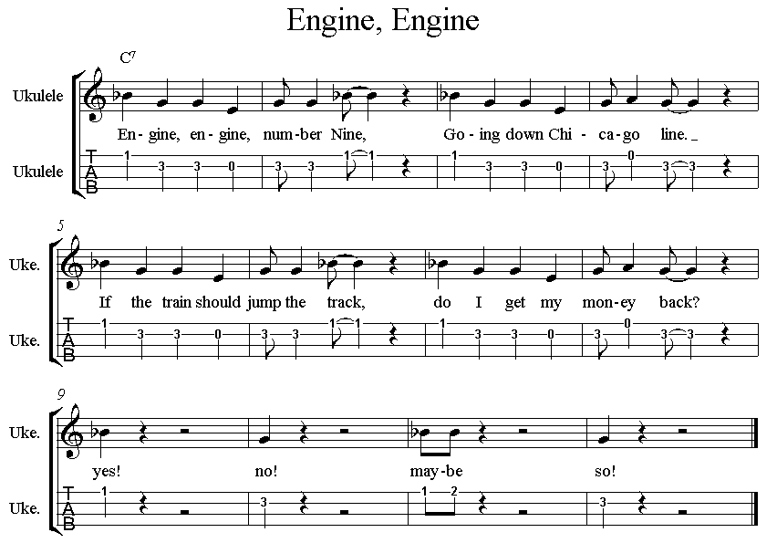 Engine Engine ukulele